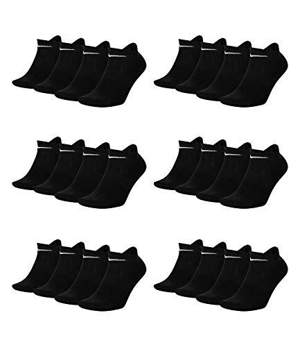 Nike Everyday SX7679 - Calcetines de entrenamiento (ligeros, 12 pares) -010 Black 160