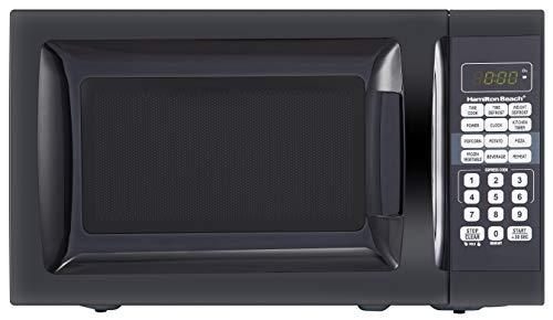 Hamilton Beach 0.7 Cu. Ft. Child-Safe Lockout Feature Black Microwave Oven New