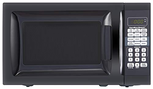 Hamilton Beach 0.7 Cu. Ft. Child-Safe Lockout Feature Black Microwave Oven New