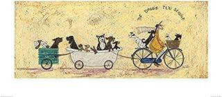 Sam Toft The Doggie Taxi Service Art Print 50x100cm