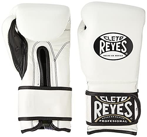 Cleto Reyes Hook & Loop Boxing Training Gloves (White, 12 oz)