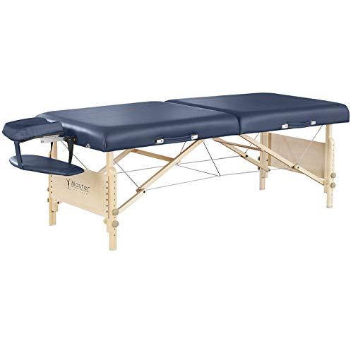 Master Massage Coronado - Camilla de masaje profesional portátil para masaje, cama de belleza, 70 cm, azul real, colchón de espuma de 7,6 cm de grosor.