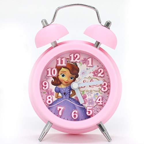 Wekker Prinses Sophia Student Cartoon Nachtkastklok Meisjesslaapkamer Dubbele bel