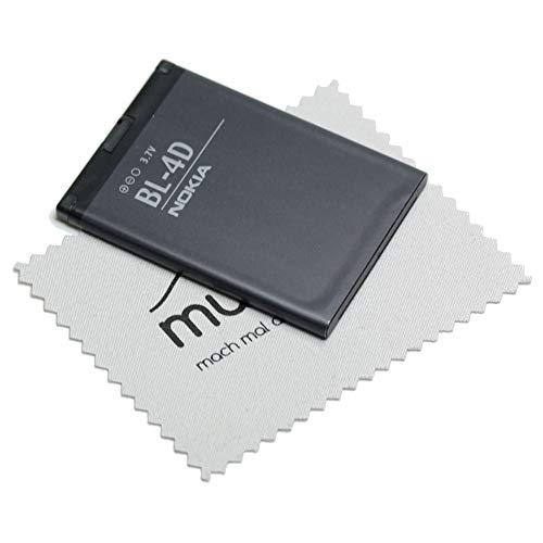Mungoo - Batteria originale BL-4D per Nokia E5, E7, N8, N97 Mini con panno per la pulizia dello schermo