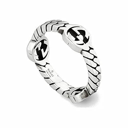 GUCCI Silver ring with GG MIS 24 YBC661523001024