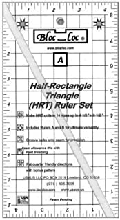 Bloc Loc~Half Rectangle Triangle Large 2-1 Acrylic Ruler