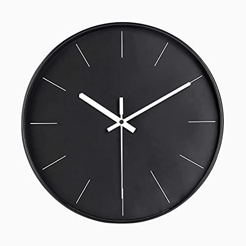 DIYZON Reloj de Pared Minimalista, Reloj silencioso Moderno de 30 cm, Movimiento de Cuarzo sin Tictac con Batería, Fácil de Leer, Adecuado para Dormitorio, Cocina, Escuela, Oficina