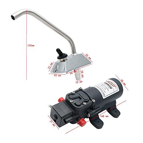 YAYANGG Coche Lavado Agua Bomba Grifo Grifo Kit 12v Micro diafragma Bomba de Agua Interruptor Inteligente Alta presión Ajuste para Barcos de Caravana RV Camper (Color : Water Pump Faucet)