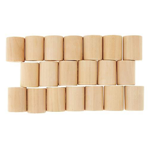Hellery 20 Stücke Holzspielzeug Pädagogische Zylinderblöcke Baby Entwicklung Sinne Spielzeug - Holz, 20x30mm