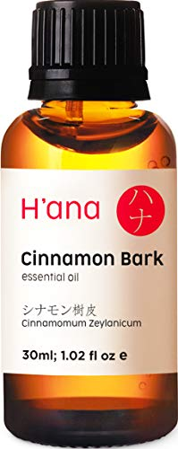 Olio essenziale di corteccia di cannella - Odore di torte di mele appena sfornate (30 ml) - Olio di corteccia di cannella di grado terapeutico puro al 100%