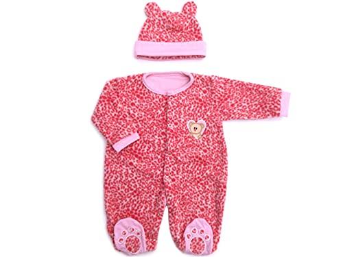Macacão de Bebê Menina Inverno Soft Oncinha Rosa com Touca de Orelhinha Zip Toys