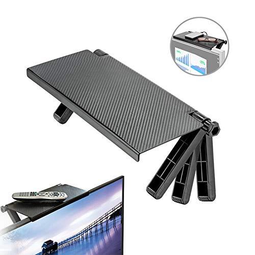 GADE Adjustable Durable TV Screen Caddy Screen Top Shelf Storage Rack