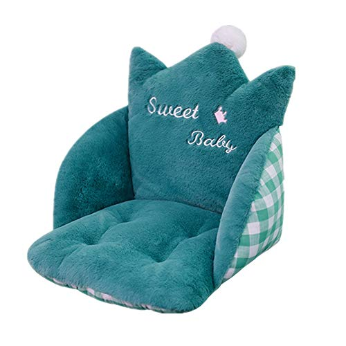 Cushion Home Office Chair Car Seat Recliner Warm Back Cushion Toy for Adult And Child Seat Cushion (Color : Green, Size : Free size)