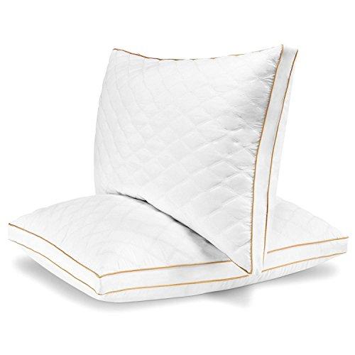 Italian Luxury Quilted Pillow - Queen, Set of 2