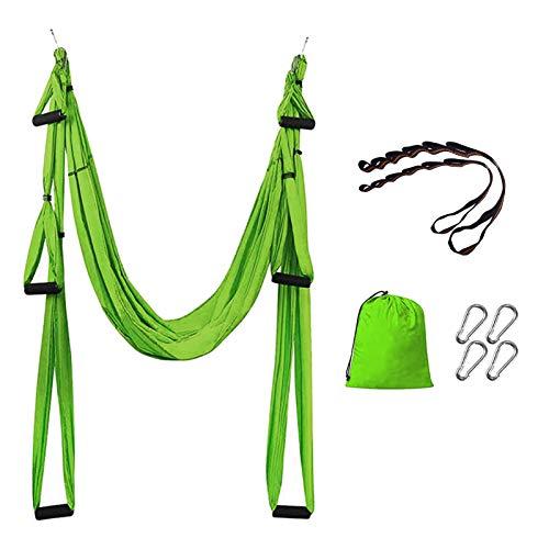 Funight Columpio De Yoga Aéreo para El Hogar, Hamaca De Yoga Aérea Portátil Y Duradera, Herramienta De Inversión De Trapecio para Yoga Pilates Antigravedad Fruta Verde