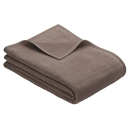 Ibena XXL Sesselschoner Porto 3560 / Sofaschoner Hellbraun/Sofaüberwurf 75x200 cm/besonders flauschig weich & angenehm warm, Baumwollmischung in hervorragender Qualität in vielen Größen erhältlich…