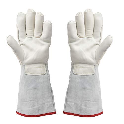 Guantes de trabajo, 1 par de guantes de protección para el tratamiento criogénico de nitrógeno líquido con GNL de 40 cm de largo