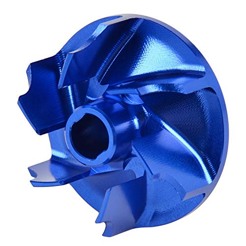 Reserve Motorrad Wasserpumpe Impeller for Husqvarna 85 125 250 300 350 150 TC TX TE FC FE 2016 2017 2018 2019 Aluminium Blau Laufrad (Color : Blue)