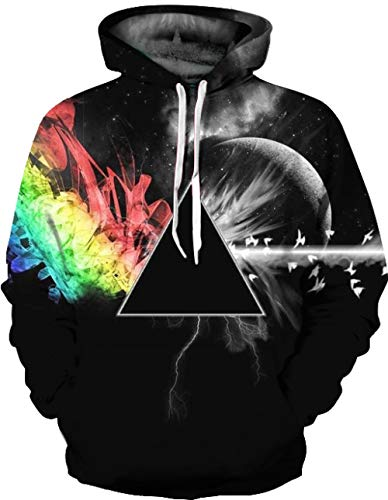 JUZSZB Breathable Hoodies Sweatshirts For Mens 3D Printed Hoodie Plus Size Pullover Unisex Sweatshirt Loose With Pockets Sweater-2Xl
