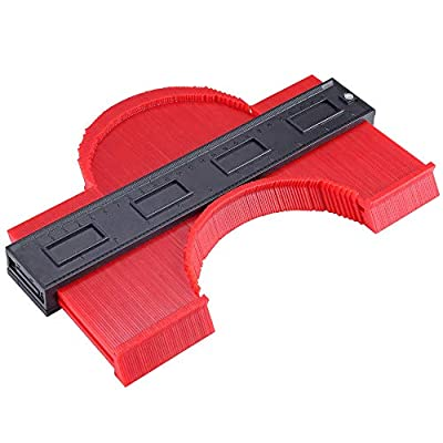Contour Gauge Irregular Profile Gauge Duplicator Tiling Laminate Tiles Edge Shaping Wood Measure Ruler Plastic Woodworking Tools Profile Jig Guide (10 Inch) by Aloxim
