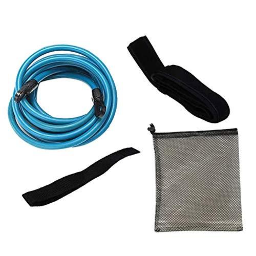 Lenfesh Schwimmtraining Elastischen Seil Set, Einstellbare Pool Schwimmgürtel, Schwimmwiderstand Gürtel Schwimmgurt Bremsschirm und Elastikband für Schwimmingpools Widerstandstraining