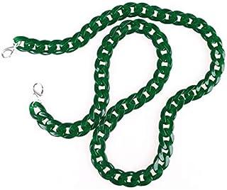 Adebie - Fish Bone 60-120cm Acrylic Resin Chain Bag Strap Handbag Plastic Strap Fashion Colorful Women Bag Accessories Shoulder Strap 60cm Green [60cm]