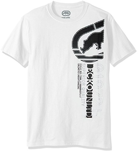 Ecko UNLTD Herren Upright Short Sleeve Tee Shirt - Weiß - Mittel