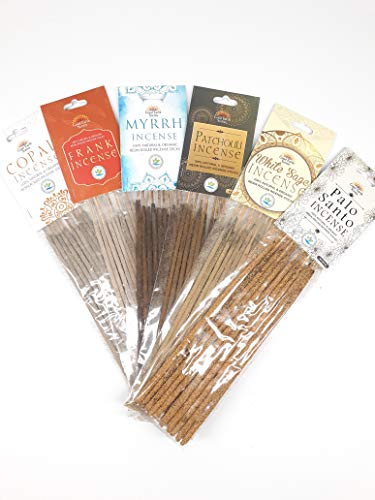 Premium Quality 100% Natural & Organic Resin Rolled Incense Stick - 6 Different Fragrance of Incense Come in one Pack.