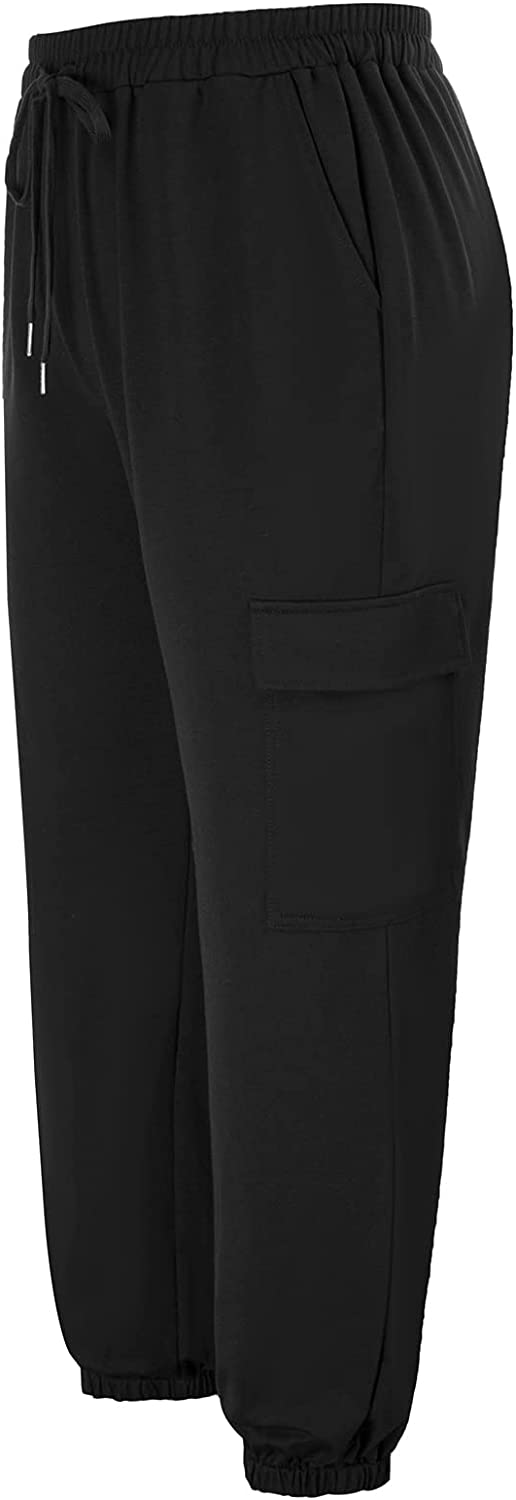 Hanna Nikole Womens Cargo Max 70% OFF Pants Jogge Baggy Waisted Gifts High Elastic