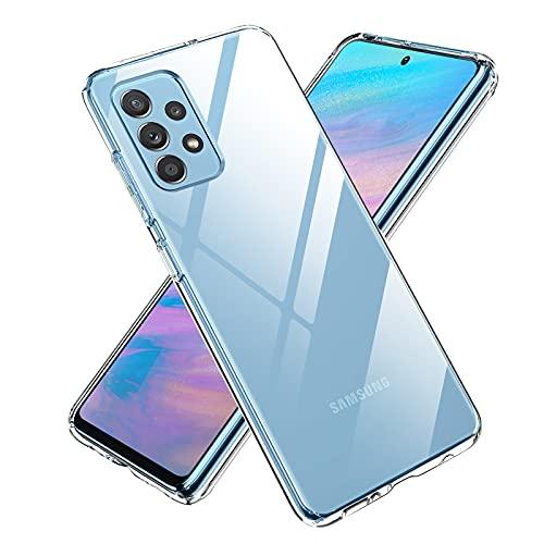 Funda Compatible con Samsung Galaxy A52(5G), Transparente TPU Silicona Ultra Delgada Case Cover, Antideslizante y Antiarañazos Carcasa para Samsung Galaxy A52(5G) - Transparente