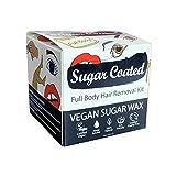 Sugar Coated Hair Removal Wax Kit for Full Body Waxing, Vegan Friendly, 1 x 250g