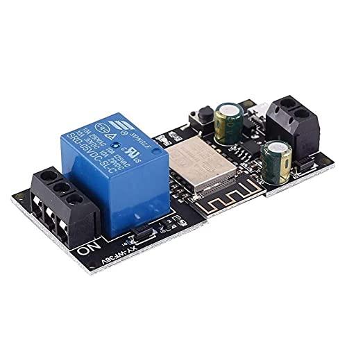 Auoeer Dispositivo de Control de relé de Control Remoto WiFi ModuleiOf Dispositivo de Control Inteligente inalámbrico para Smart Home DC 12V 24V DC6V-36V