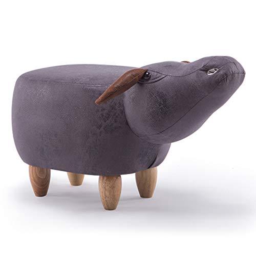 CJH creatieve kruk van massief hout voor de zitting, kruk van karton Animato dier Carino kruk Vitello