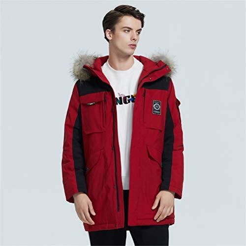 TBAO Neue Winter Daunenjacke Für Herren Hochwertiger Mantel Mit Pelzkragen Für Männer (Color : M305, Size : 52)