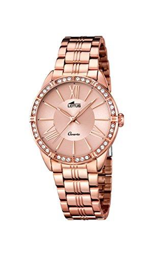 Lotus 18132/2 - Reloj analógico para Mujer (Cuarzo, Correa de Acero Inoxidable, Chapado en Oro Rosado)