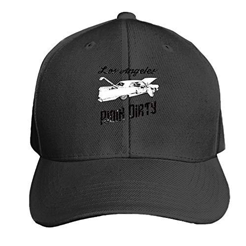 Gorra de béisbol camionera Unisex Personalizada Ridin Ajustable Sombrero Sucio de sándwich con Pico Lowrider de Los Ángeles