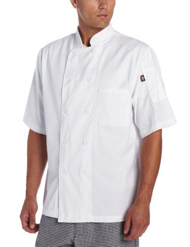 Dickies Donatello - Abrigo de chef clásico de manga corta para hombre...