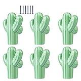 H0_V 6 Pcs Pomello in ceramica,Maniglia in ceramica a forma di cactus per porte,armadietti...
