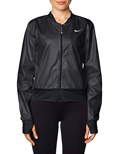 Nike Swoosh Run Veste, Black/Reflective Silv, S Pour femmes