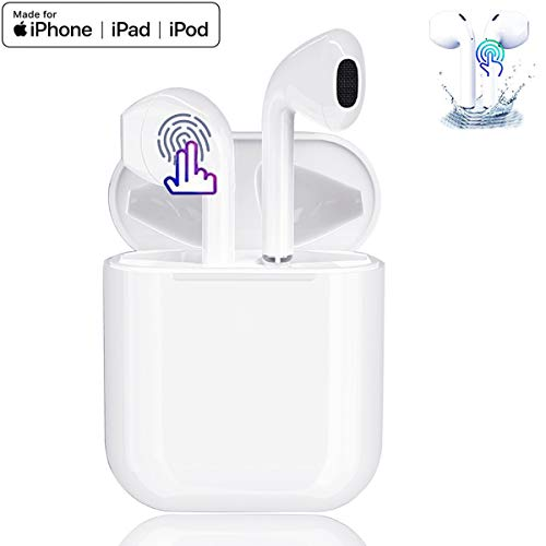 Auricolare Bluetooth Senza Fili, Cuffie Wireless Stereo 3D with IPX7 Impermeabile, Accoppiamento Automatico Per Chiamate Binaurali, Adatto Compatibile con iPhone/Android/Huawei/Airpods