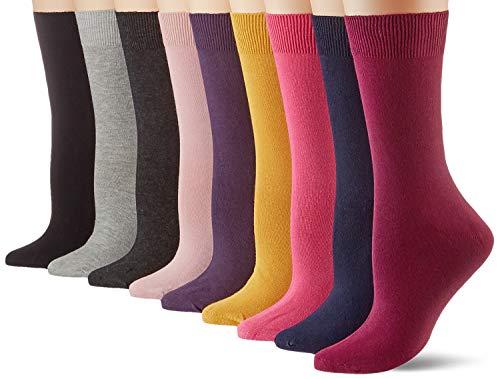 Camano Damen Socken (9er Pack), Rosa, 35/38