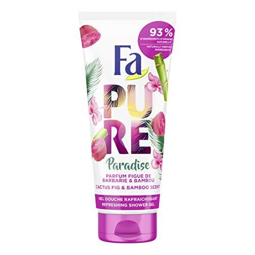 Fa - Gel Douche Corps - Pure Paradise - Parfum Figue de Barbarie & Bambou - Formule de pH neutre pour la peau - Testé sous contrôle dermatologique - Bouteille de 200 ml