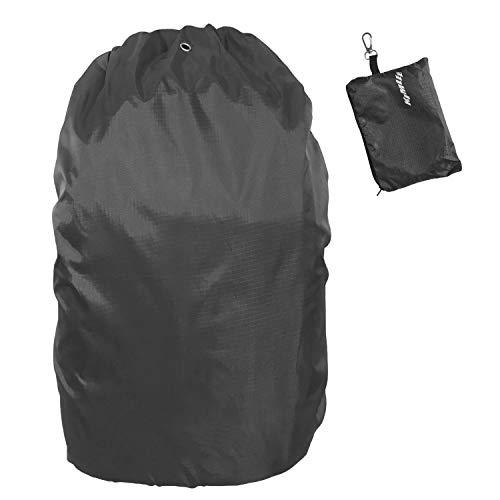 Regenschutz für 55 bis 75 Liter Rucksack Universal wasserdichte Regenhülle gegen Regen und Schnee für Outdoor Aktivitäten Schwarz