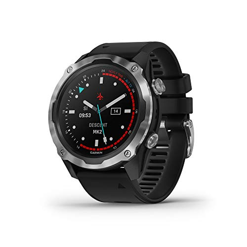 Garmin Descent Mk2, Watch-Style Dive Computer, Multisport Training/Smart Features, Stainless Steel with Black...