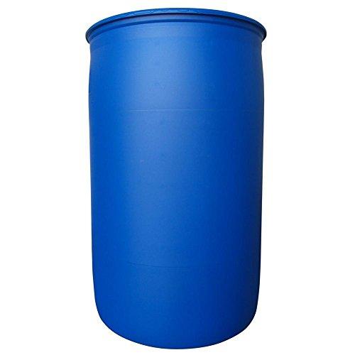 Fusto in plastica (HDPE) cilindrico, capacità 220 Lt, Mis. Ø 581 x 935 H mm, omologato ADR/ONU per liquidi, con tappi Tri Sure (inclusi), colore blu