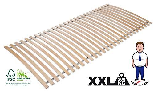 Jekatex Lattenrost, Rollrost Rahmenlos 140x200cm, 28 Latten, Birke TOP Qualität -XXL,FSC® 100{5300bf0fae2a748ff7860484d4b989406caeebba3eddd5b4cf5e563cc910ebc1}