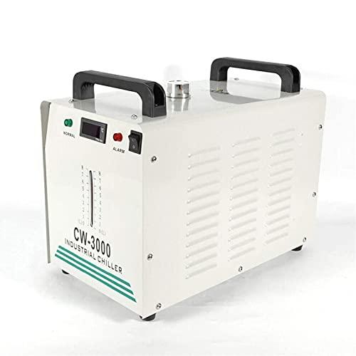 WLQWER 8L Industrieller Wasserkühler, Industrielle Wasserkühler CW-3000, Water Chiller Wasserkühlung CO2 Laser Rohrkühler Für Gravieren