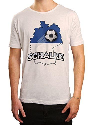 Schalke #2 Premium T-Shirt   Fussball   Fan-Trikot   #jeden-verdammten-Samstag   Herren   Shirt, Farbe:Weiß (White L190);Größe:4XL