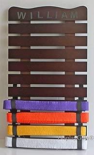 Martial Art Belt Holder Hanging Medal Display for 10 Belts (DIY Personalized Accessories) from Karate Taekwondo Kung Fu