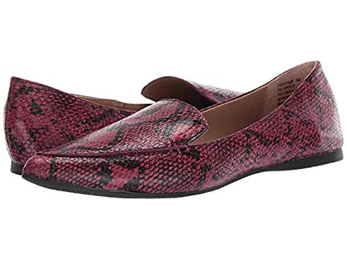 合計検査不規則なレディースローファー?靴 Feather Red Snake (22.5cm) M [並行輸入品]